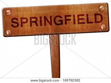 springfield road sign, 3D rendering