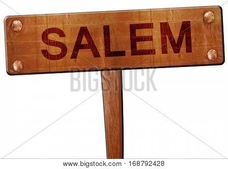 salem road sign, 3D rendering
