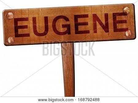 eugene road sign, 3D rendering