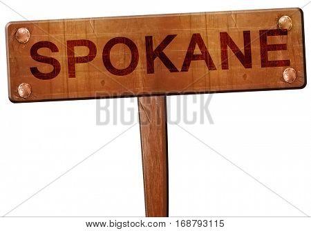 spokane road sign, 3D rendering