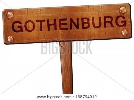 Gothenburg road sign, 3D rendering