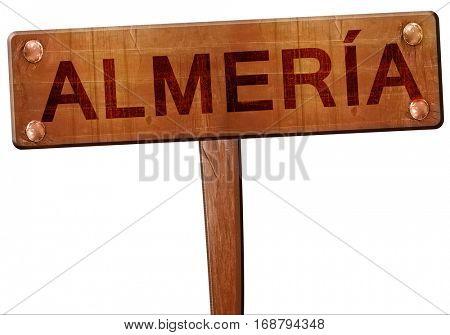 Almeria road sign, 3D rendering
