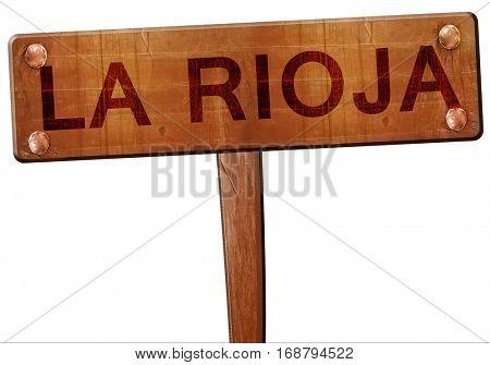 La rioja road sign, 3D rendering