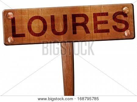 Loures road sign, 3D rendering