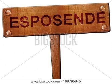 Esposende road sign, 3D rendering