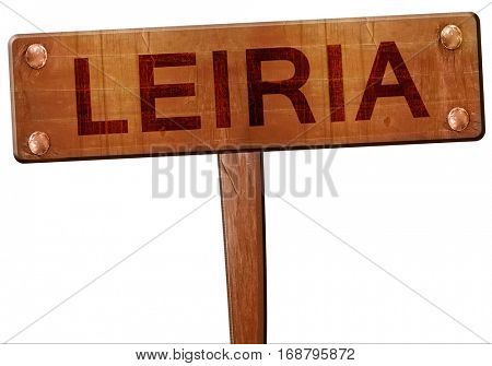 Leiria road sign, 3D rendering