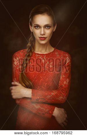 Beauty Portrait Of Pretty Woman
