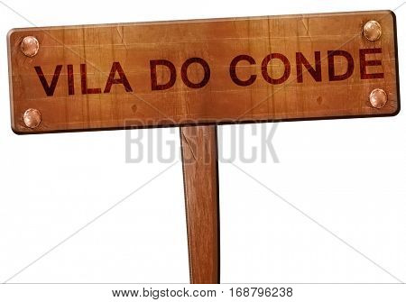 Vila do conde road sign, 3D rendering