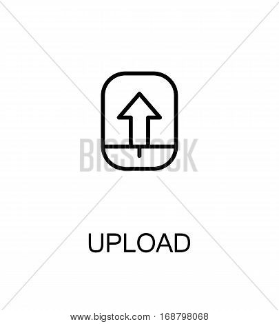 Upload icon. Single high quality outline symbol for web design or mobile app. Thin line sign for design logo. Black outline pictogram on white background
