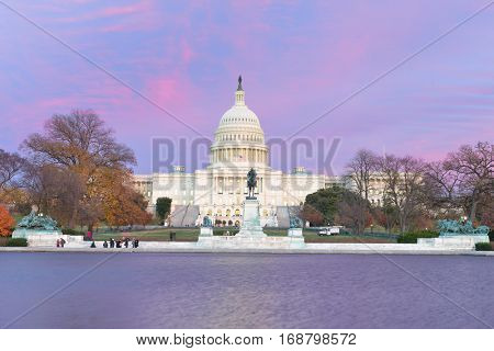 United States Capitol Building during sunset - Washington DC USA