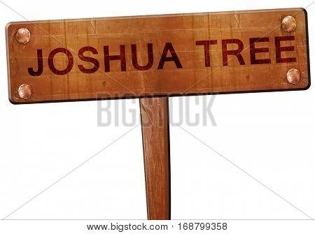 Joshua tree road sign, 3D rendering
