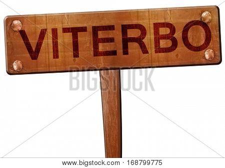 Viterbo road sign, 3D rendering