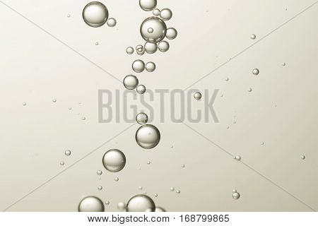Beautiful gradated bubbles flows over a blurred background