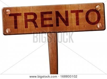 Trento road sign, 3D rendering