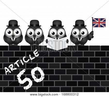 Comical Article 50 document to be issued by the United Kingdom Government to exit the European Union resulting from the June 2016 referendum
