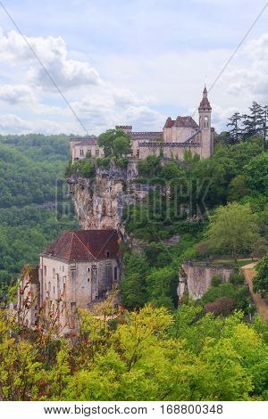 Rocamadour, french village on a cliff, Lot, France
