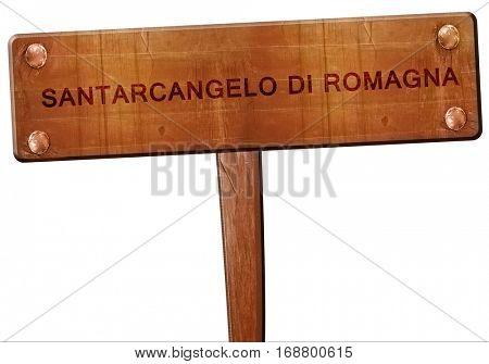Santarcangelo di romagna road sign, 3D rendering
