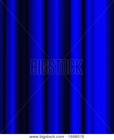 Blue Theatre Curtain