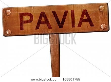 Pavia road sign, 3D rendering
