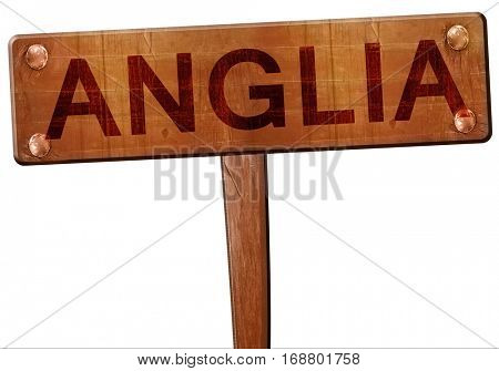 Anglia road sign, 3D rendering