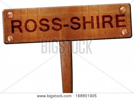 Ross-shire road sign, 3D rendering