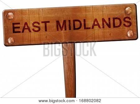 East midlands road sign, 3D rendering