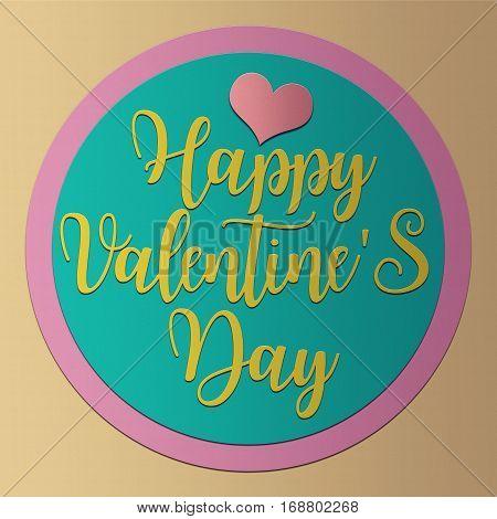Happy Valentine's day card PaperCraft vintage style