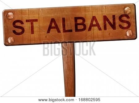 St albans road sign, 3D rendering
