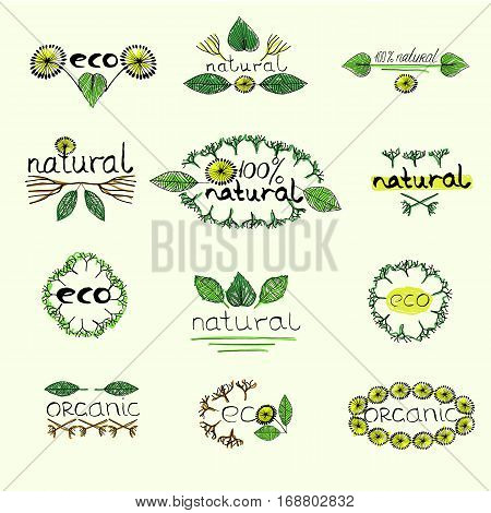 Organic Eco Natural Badge