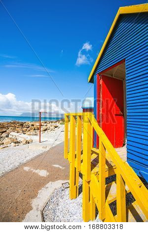 Colorful beach houses in St.James South Africa