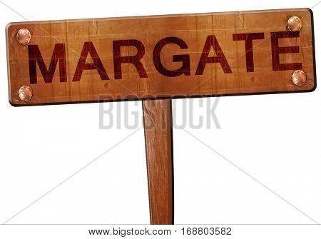 Margate road sign, 3D rendering