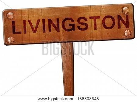Livingston road sign, 3D rendering