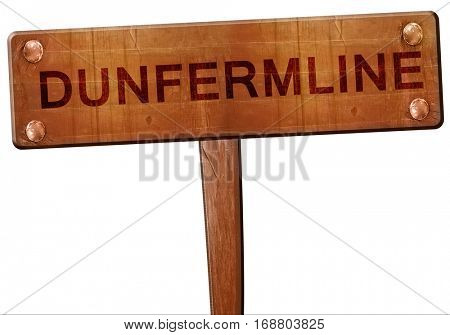 Dunfermline road sign, 3D rendering