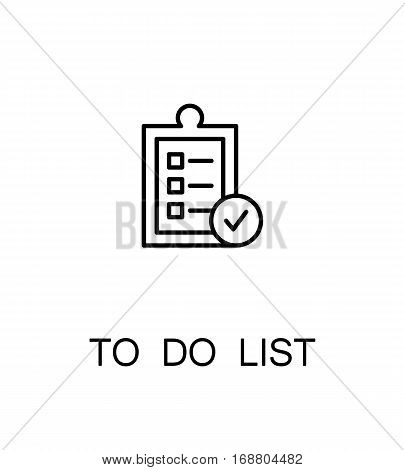 To do list icon. Single high quality outline symbol for web design or mobile app. Thin line sign for design logo. Black outline pictogram on white background