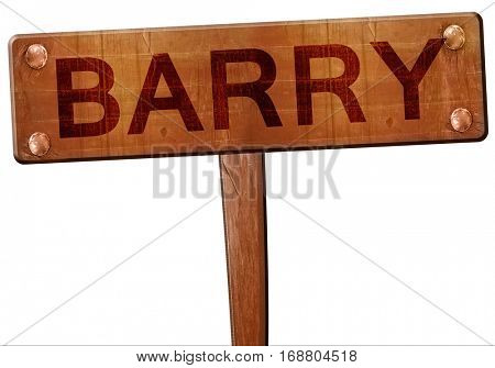 Barry road sign, 3D rendering