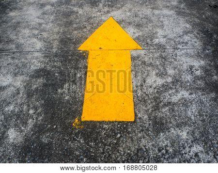 icon yellow arrow up on gray floor