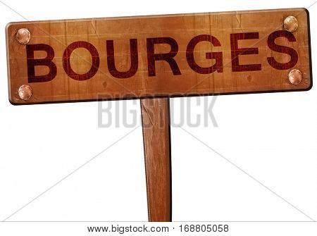 bourges road sign, 3D rendering
