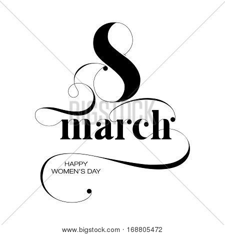 Vector composition for 8 March. Women day
