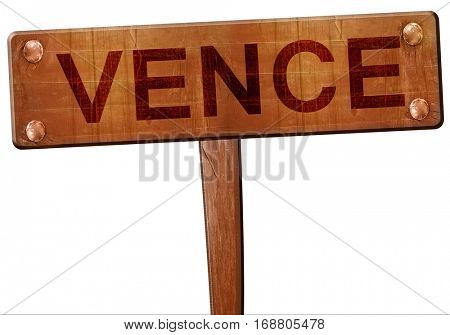 vence road sign, 3D rendering