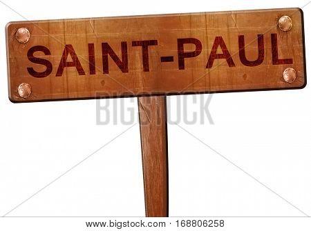 saint-paul road sign, 3D rendering