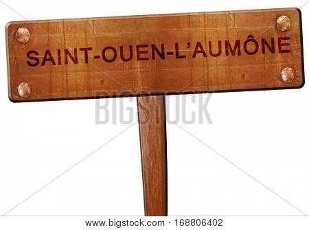 saint-ouen-l'aumone road sign, 3D rendering