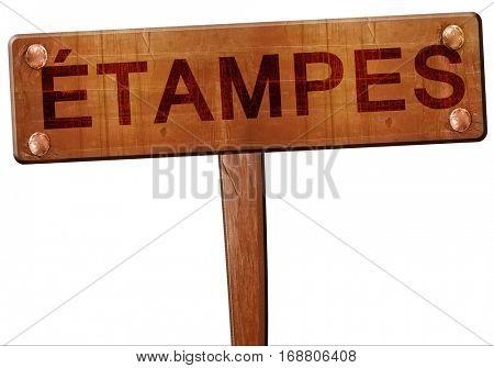 etampes road sign, 3D rendering
