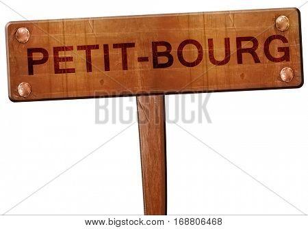 petit-bourg road sign, 3D rendering