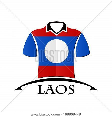 shirts icon made from the flag of Laos