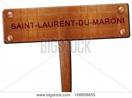 saint-laurent-du-maroni road sign, 3D rendering