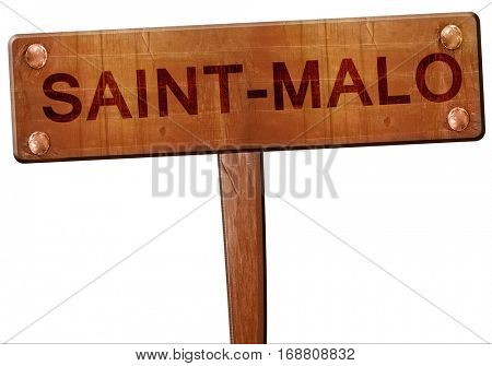 saint-malo road sign, 3D rendering