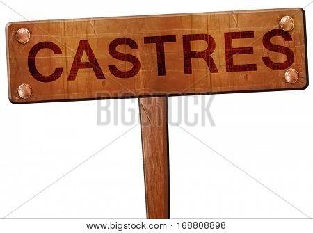castres road sign, 3D rendering