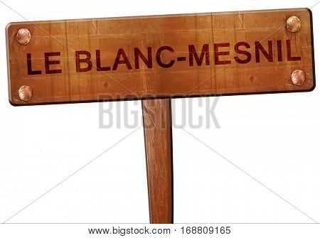 le blanc-mesnil road sign, 3D rendering