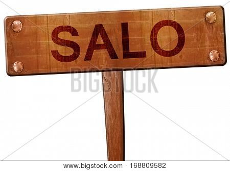 Salo road sign, 3D rendering