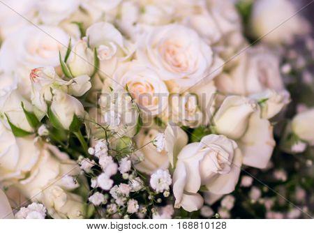Flowers roses bouquet of white roses wedding bouquet Bridal bouquet